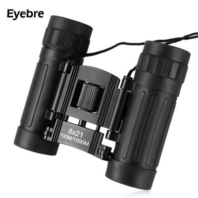 Eyebre 8X21 100M / 1000M Binocular Telescope Outdoor Folding waterproof Power-view Roof Prism Telescope Hunting Camping Fishing