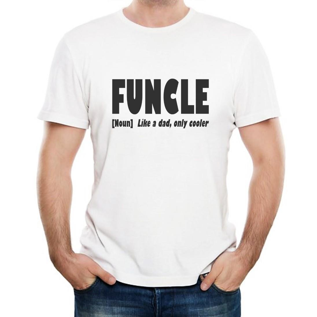 d10fc6dd Funcle Like A Dad Only Cooler Mens T Shirt Birthday Gift Funny Uncle  Vintage Tee Shirts Family T Shirts From Linnan00004, $14.67| DHgate.Com