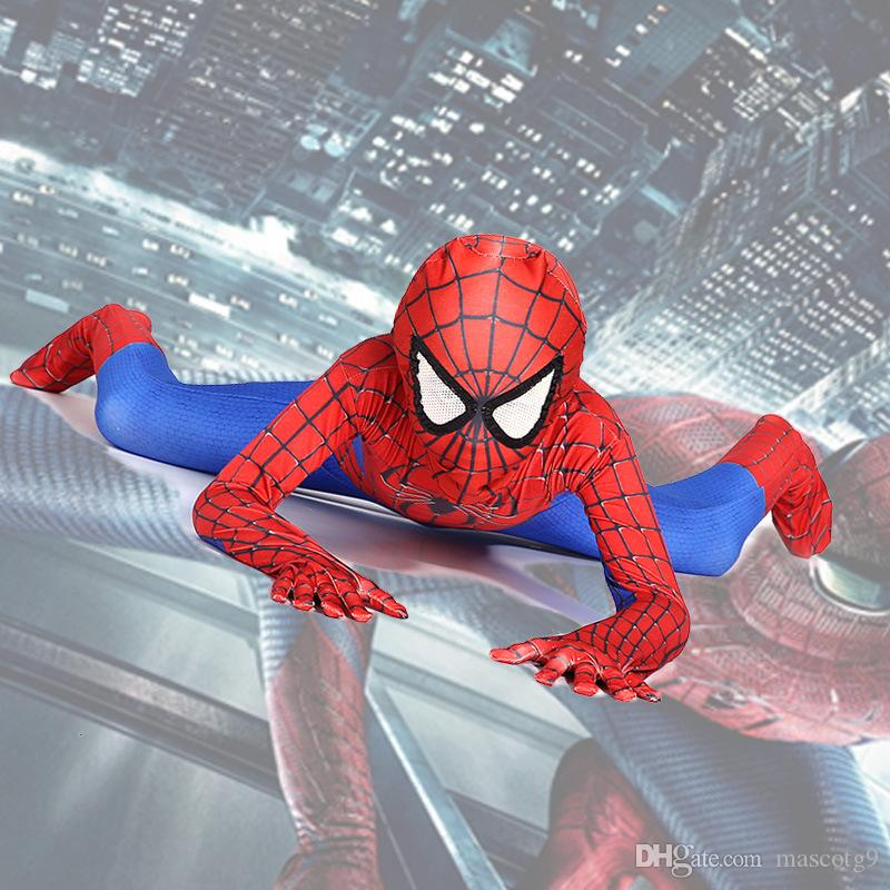 Incredibile costume Spiderman Suit Suit Bambini bambini Spiderman Costume Zentai Halloween Costume Cosplay
