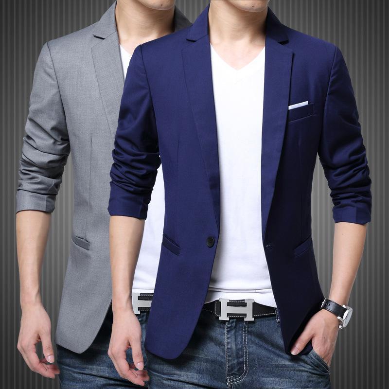 2018 Blazer Mężczyźni Kurtka Formalna Slim Fit Single Button Casaco Masculino Dress Blazers Garnitur Americana Hombre Plus Rozmiar M-5XL