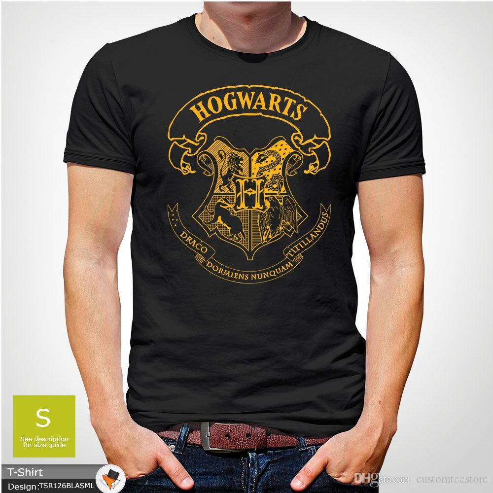036c0d2f55d Hogwarts Harry Potter Crest T Shirt Men S Or Unisex All Sizes Xmas Gift  Blue Tees Shirt Men Fashion Short Sleeve Crewneck Cotton Plus Size 1 T  Shirt T Shirt ...