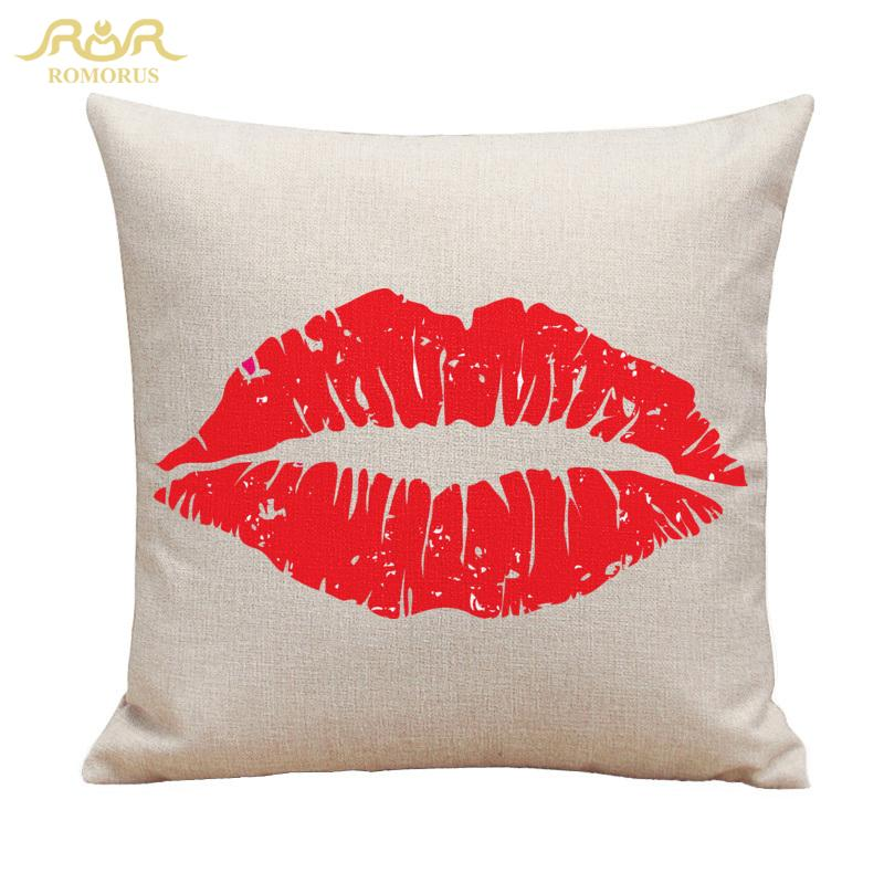 Wholesale New Design Women Sexy Red Lip Cushion Covers Cotton Linen  Creative Throw Pillow Case Home Decor Sofa Quality Kussensloop Furniture  Cushions ... 1b0aaa754