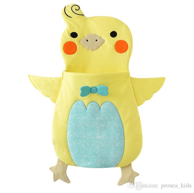 PROSEA Весна Осень Зима новорожденный пеленание мальчики девочки прекрасный желтая утка спальные мешки Sleepsacks обертывания