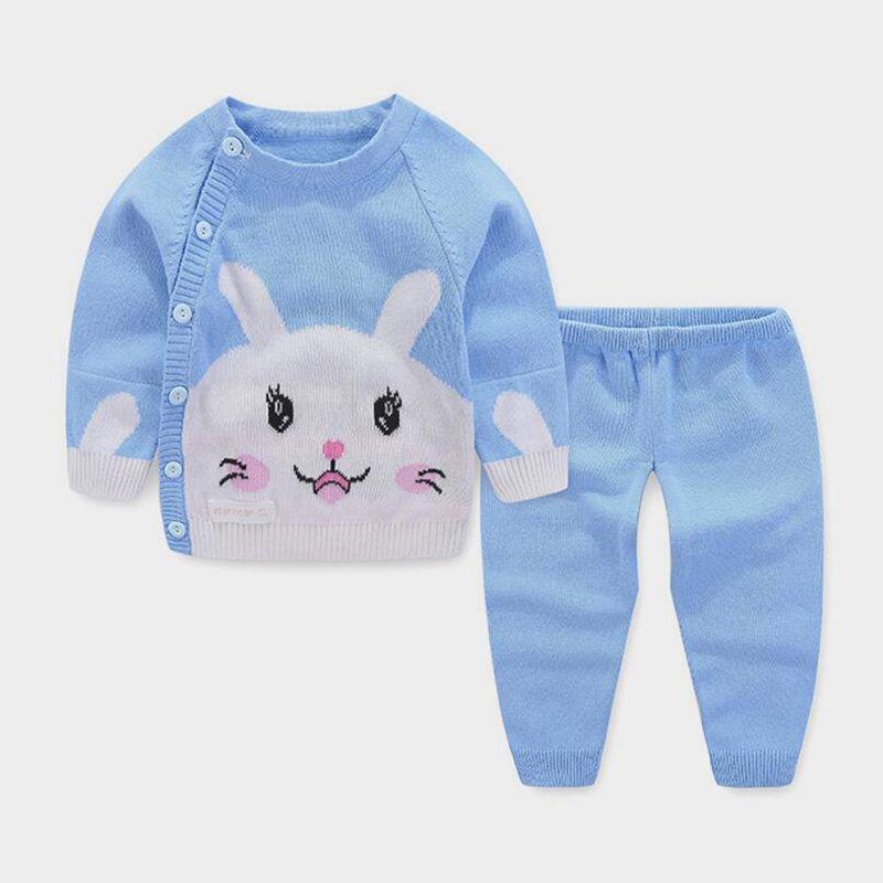 6da9f6032 2018 Baby Girls Clothing Sets Cartoon Rabbit Coat+pants Infant Bebe ...