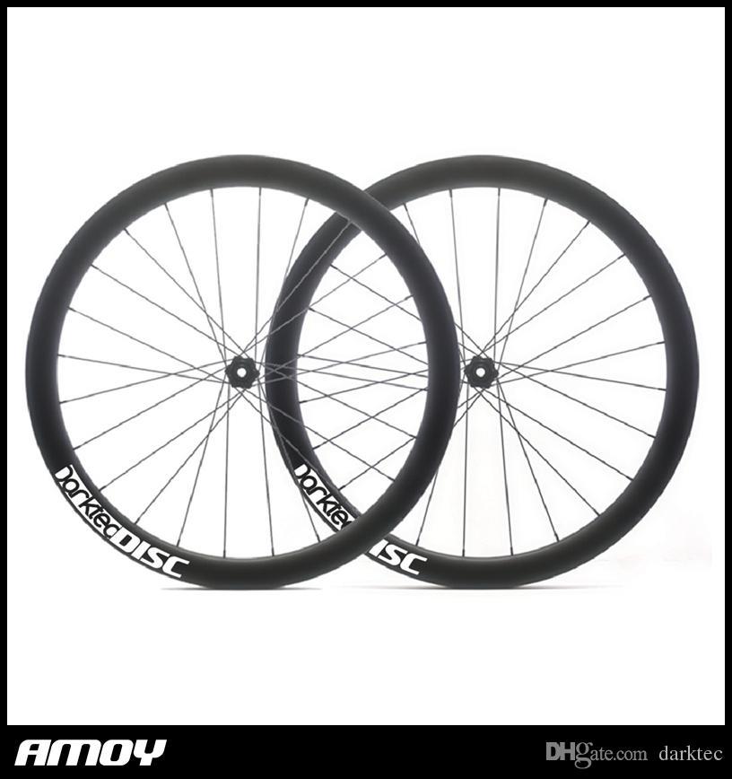 4766f175bac 700C 45mm Carbon Tubular Disc Cyclocross Brake Hubs Wheels Carbon Bike  Gravel Bicycle Disc Wheelset Carbon Mountain Bike Wheels Road Bikes From  Darktec