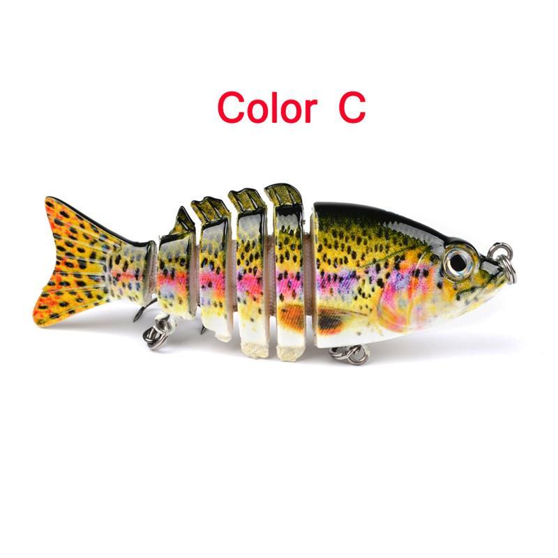 Yeni Bölünmüş Kuyruk Misk Crankbaits 6 Bölüm Balıkçılık Cazibesi Kanca 10.6g 9 cm Süper Canlı gerçekçi plastik kesimleri sert yem
