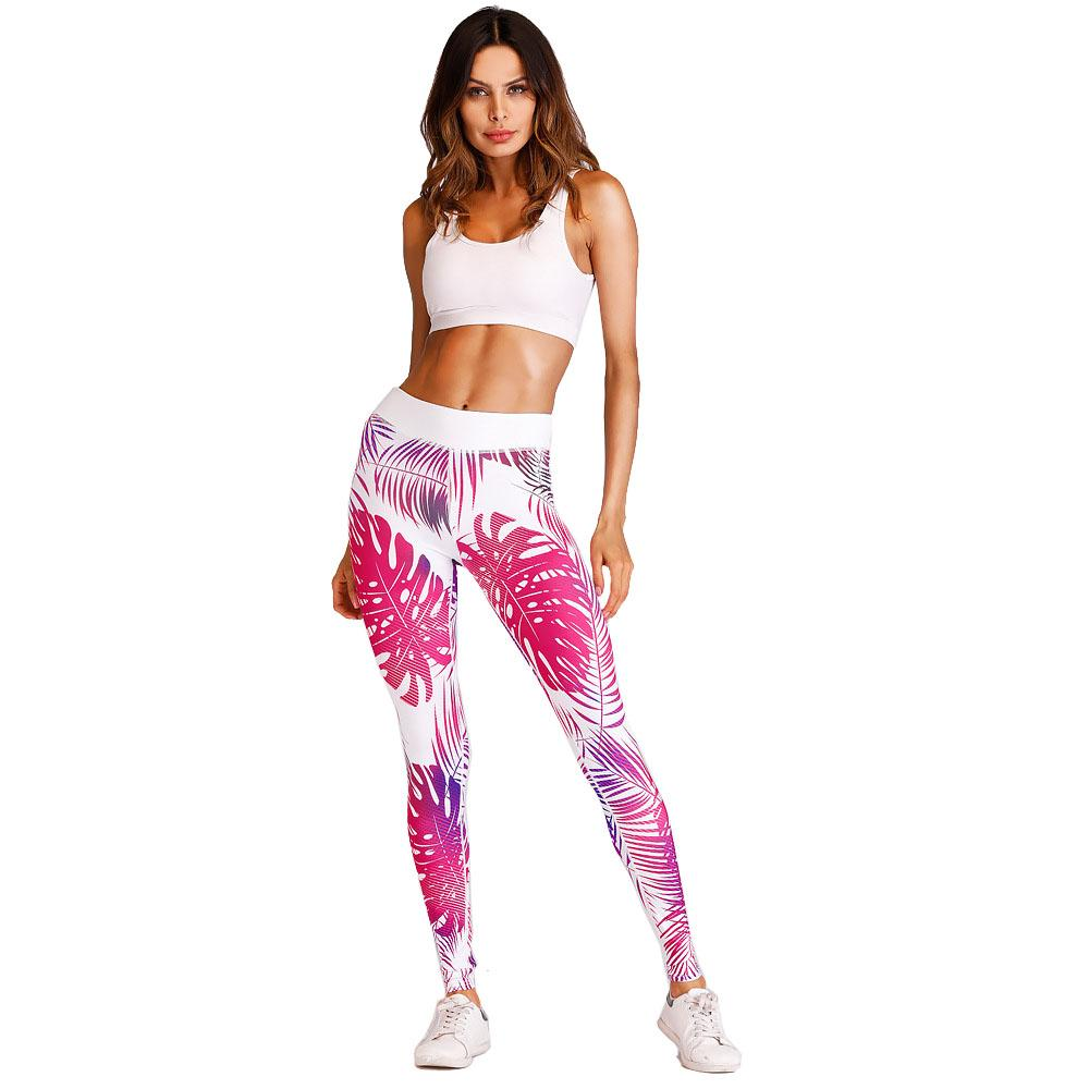 67bd8183c37 2019 New Sale Pink Printed Women Leggings Sport Fitness High Waist Gym Yoga  Pants Breathable Jogging Femme Exercise Tights Trousers From Qingfengxu