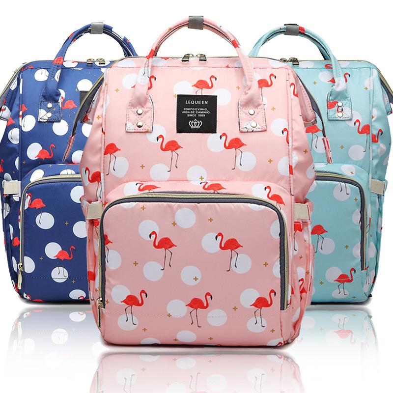 d4764187fabb 2019 Baby Diaper Bag Flamingo Mummy Maternity Nursing Backpack Travel Nappy  Changing Bags Waterproof Organizer Wet Bag For Stroller From Fkansis