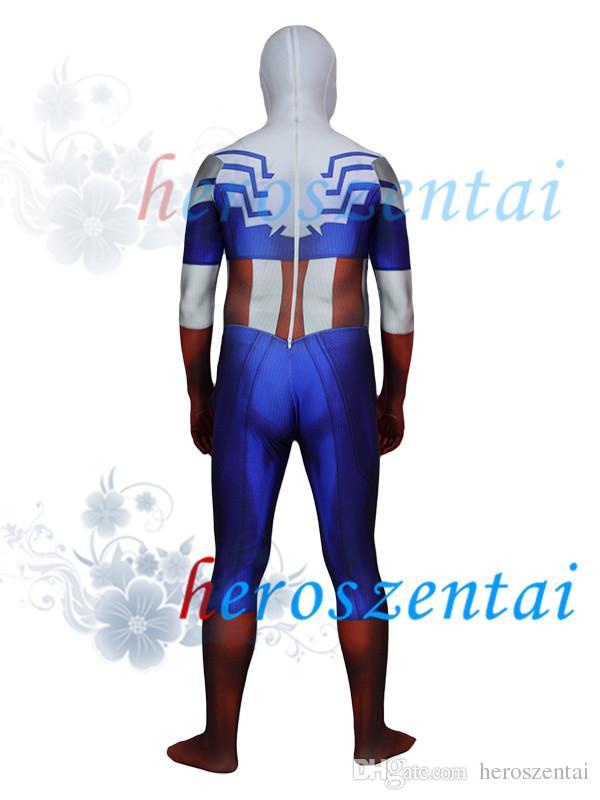 3D Printed Falcon Captain America Costume Superhero Costume Lycra Spandex Spiderman Suit Halloween Party Cosplay Zentai Suit 154867