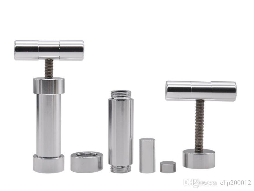 Acessórios para isqueiro, suporte para fumo cilíndrico, calcador de fumo em alumínio, supressor de fumo em grande escala em metal.