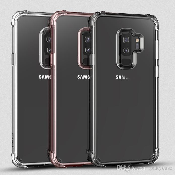 best service 92f50 d3848 iPaky Case For Samsung Galaxy S9 Plus Clear Transparent Back Cover S9  Drop-proof Shockproof PC TPU Hard Soft Cases With Package In Stock