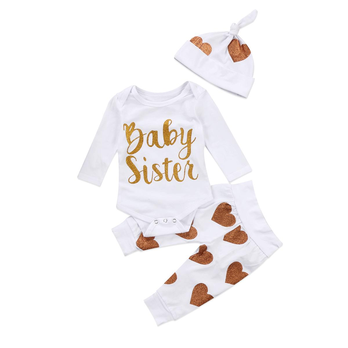 2f592df59 Toddler Baby Girl Kid Clothes Long Sleeve Baby Sister Romper ...