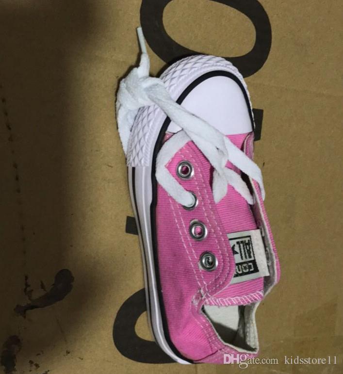 EU size 24-34 Nouvelle marque enfants chaussures en toile de mode haute - chaussures basses garçons et filles sport chaussures de sport de toile