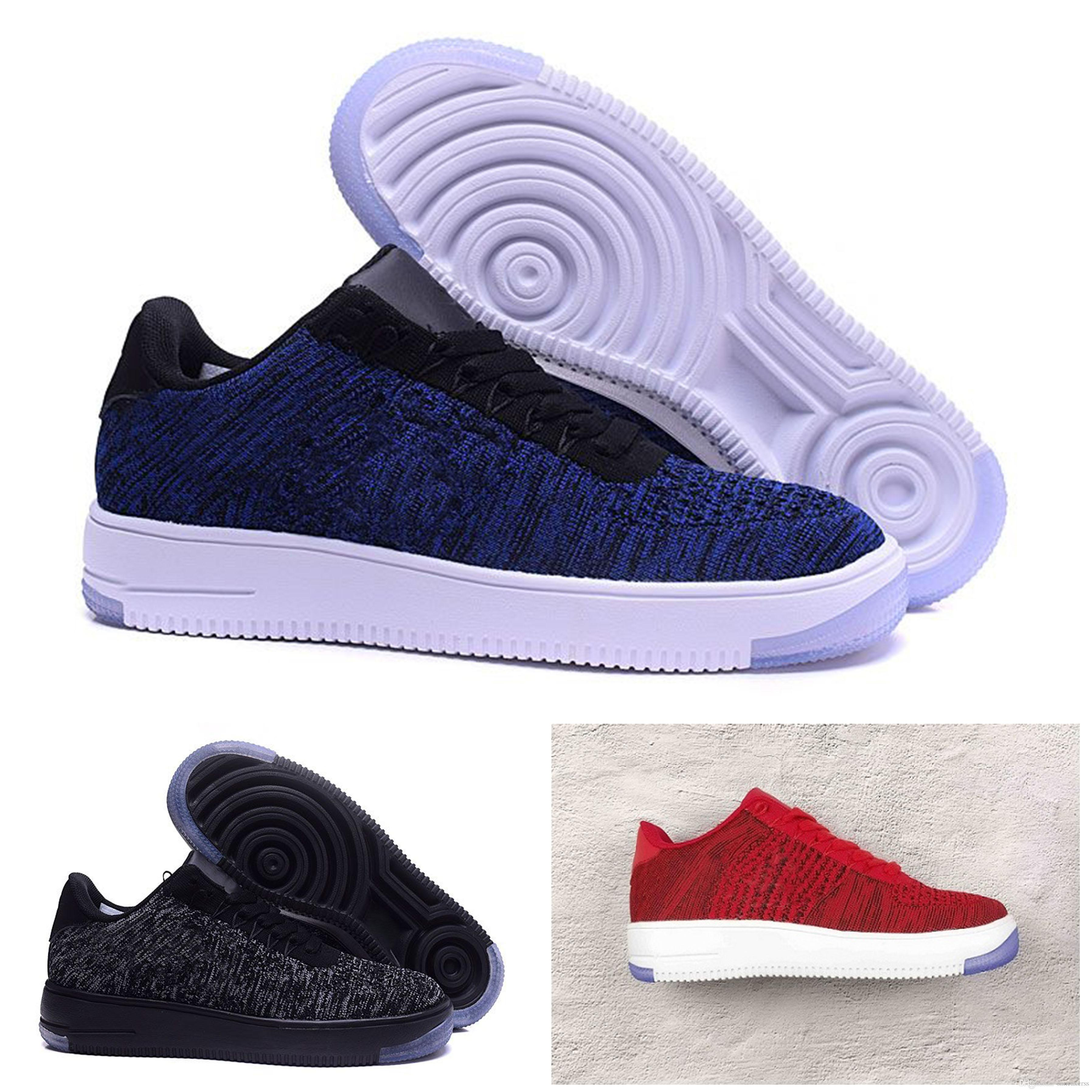 Acheter Nike Air Force 1 Flyknit Af1 Entier Chaud Af Sneakers Forces  Formateurs Low Cut Blanc Noir En Plein Air One 1 Dunk Running Chaussures  Hommes Femmes ... 33142d903e47