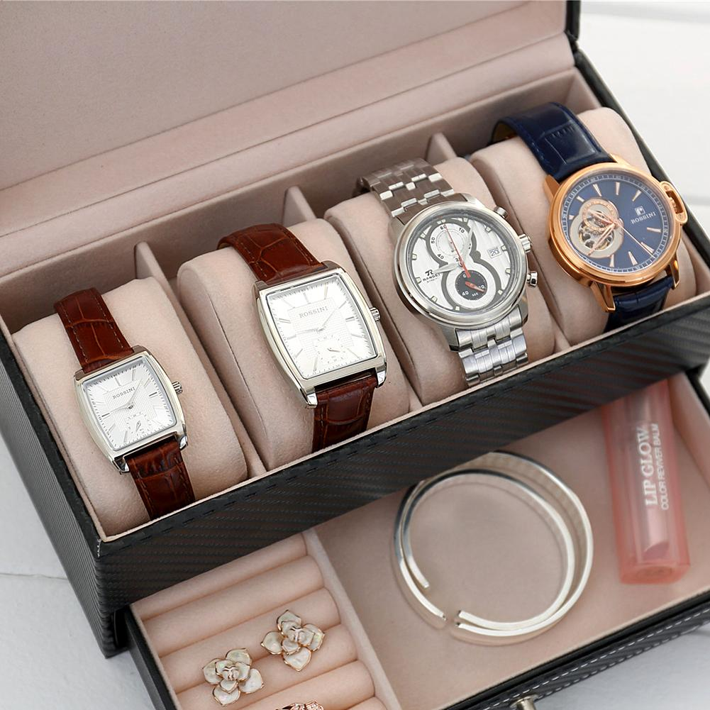 Hotsale 4grids Cf Leather Jewelry Box Watch Box With Drawer Make Up  Organizer Watch Jewelry Casket Storage Saat Kutusu Watch Storage Boxes  Watch Storage ...