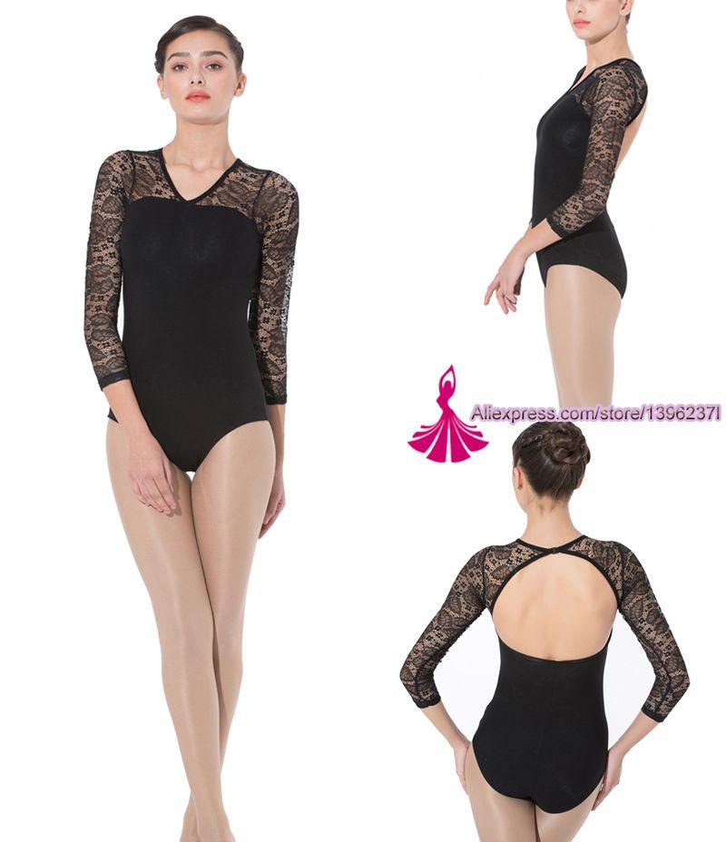 1f693b999a8e 2019 Gymnastics Leotard Women 2018 New High Quality Lace Long Sleeve ...