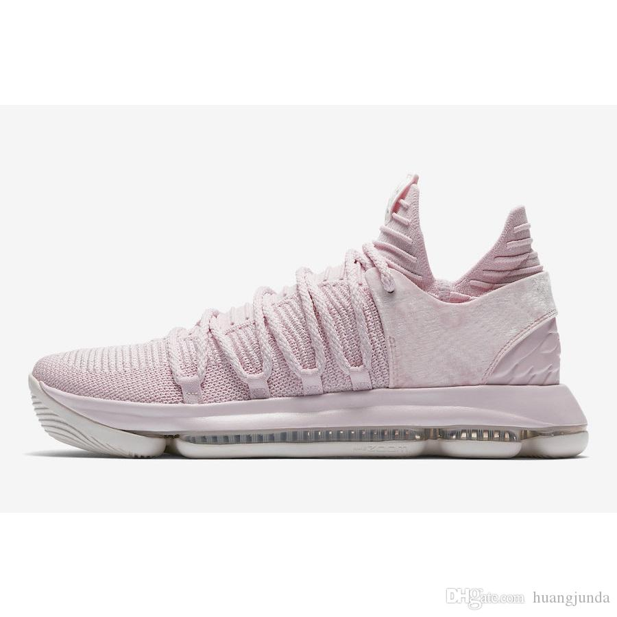 buy online 5ed27 be69a 2019 Cheap 2018 New Mens KD 10 Aunt Pearl Basketball Shoes Kay Yow Think  Pink Kevin Durant KD10 X Sneakers Boots With Original Box For Sale From  Huangjunda, ...