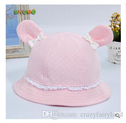 d508c3c1bc3 Girls Hats Summer Cute Princess Baby Hat With Bow Solid Color Lace Hollow Baby  Girl Cap Toddler Kids Beach Bucket Hats UK 2019 From Crazyfairyland