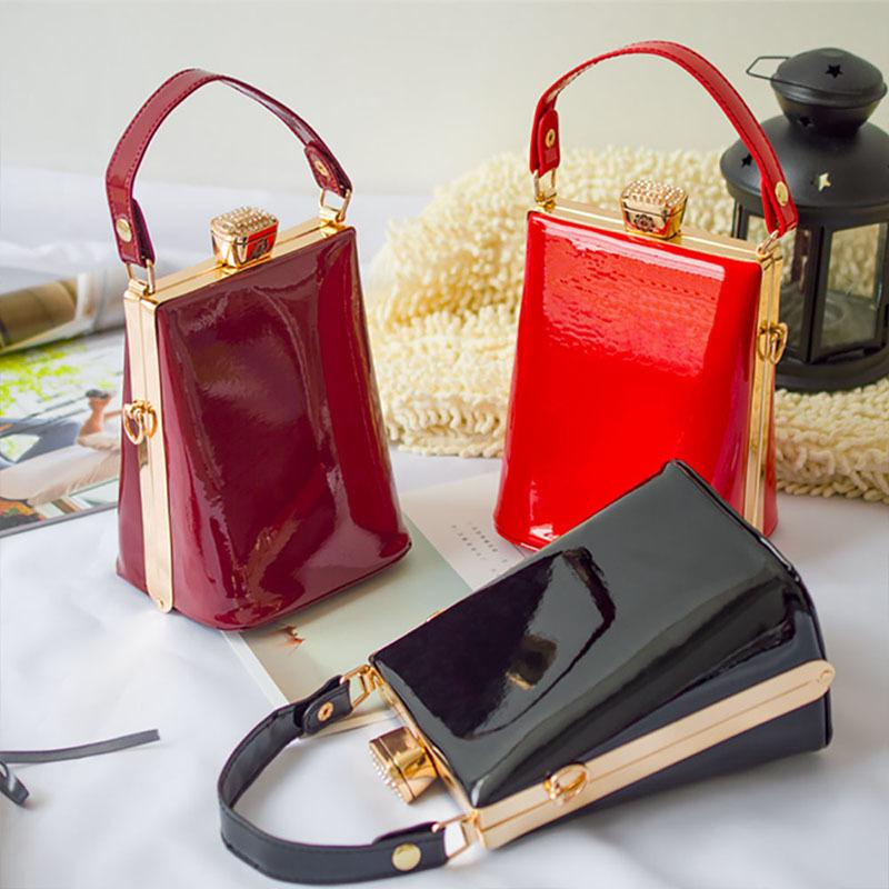 1cee60f69d29 Fashion Paint Leather Luxury Design Women S Handbags Shell Lady Shoulder Small  Clutch Bags Party Evening Pouch Purse Bags BA008 Y18102403 Purses For Women  ...