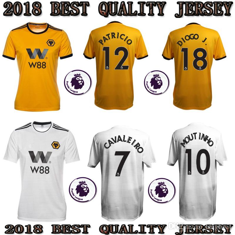 9df98833ae9 TOP 2018 2019 Wolverhampton Wanderers Soccer Jersey Home Yellow ...