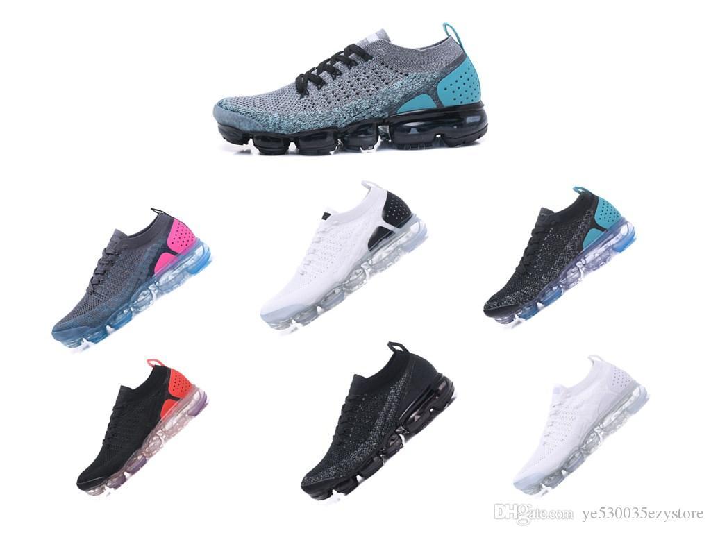 new concept b5360 81b45 Compre Nike Air VaporMax Flyknit 2.0 2018 Venta Al Por Mayor Nueva Color Vp  Fly 2.0 II FK MOC 2 Hombres Zapatos De Diseño Hombres Running Entrenadores  ...