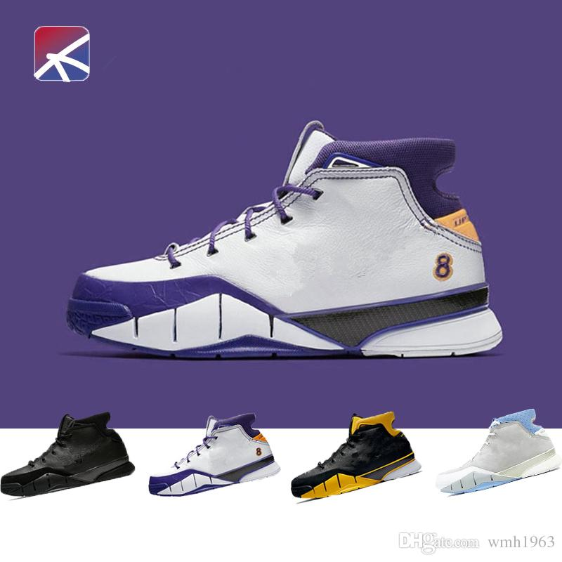 b987ed4f723b New Kobe 1 Protro Air Basketball Shoes Men Grey Close Out Mamba Protrotv Undefeated  UND Fade Devin Booker PE Classic Sport Shoe Sneaker Youth Basketball ...