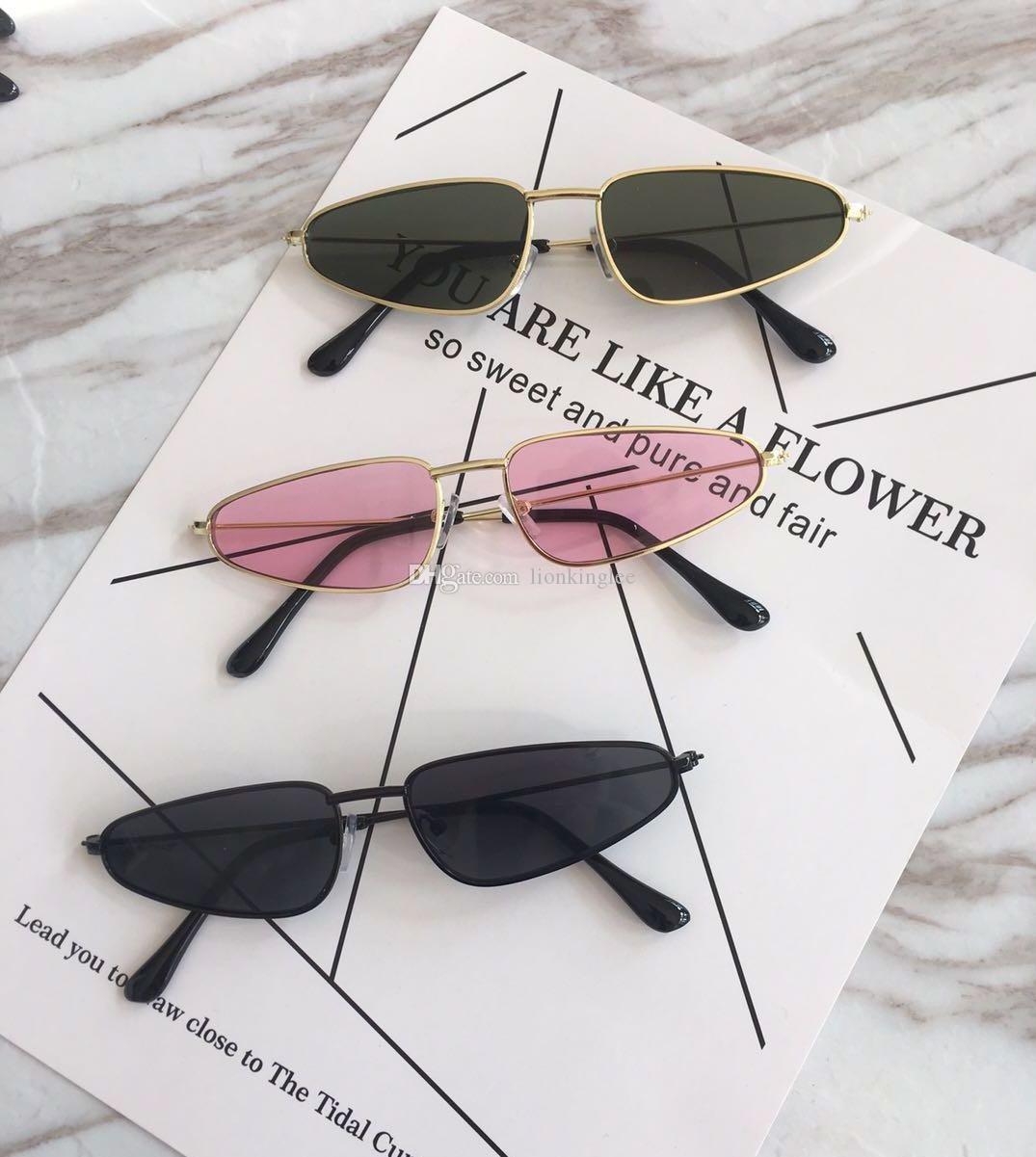 6198528d08 2018 Small Triangle Sunglasses Women Men Brand Designer Glasses 90S Retro  Slim Skinny Sun Glasses Red Tint Transparent Shades 161 Sunglasses Hut  Reading ...