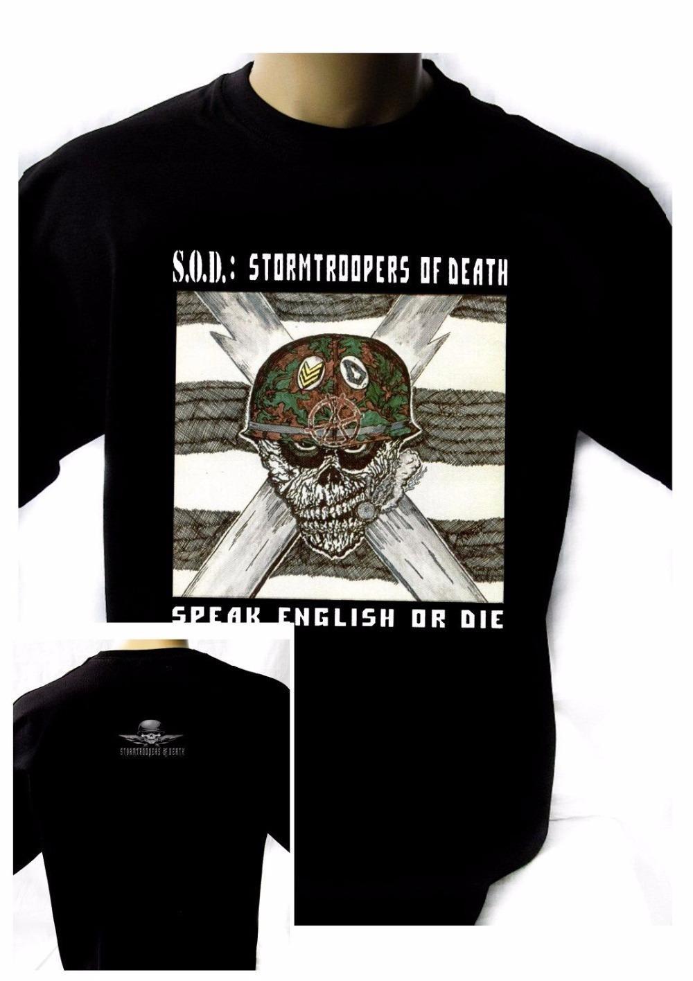 5ea0c4ed S.O.D. Stormtroopers Of Death'85 Black New T-Shirt Rock T-Shirt Rock ...