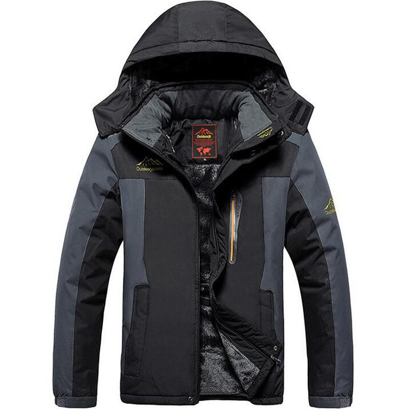 b22d444633 Winter Ski Jacket Men Waterproof Fleece Snow Jacket Thermal Coat For ...
