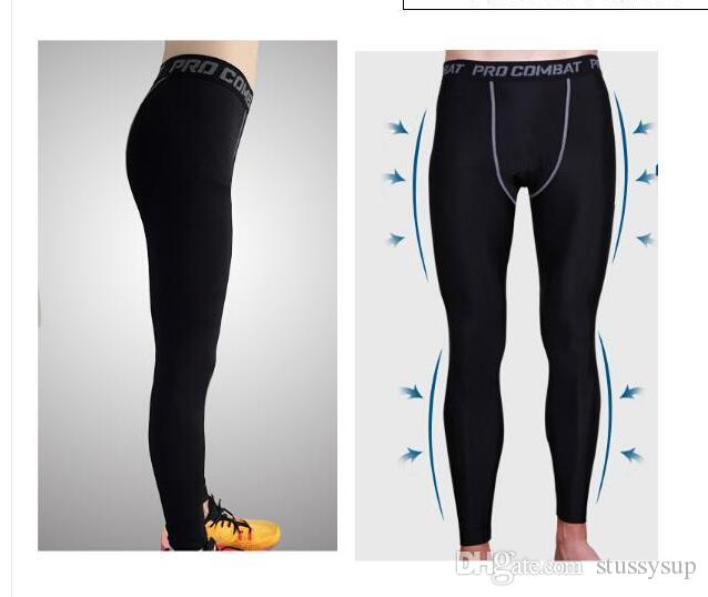 Wholesale-2018 Fitness Clothing Sport Sexy Youth Compression Lycra Tights for Men's Running Basketball Outdoor Wear Pants S-3xl size