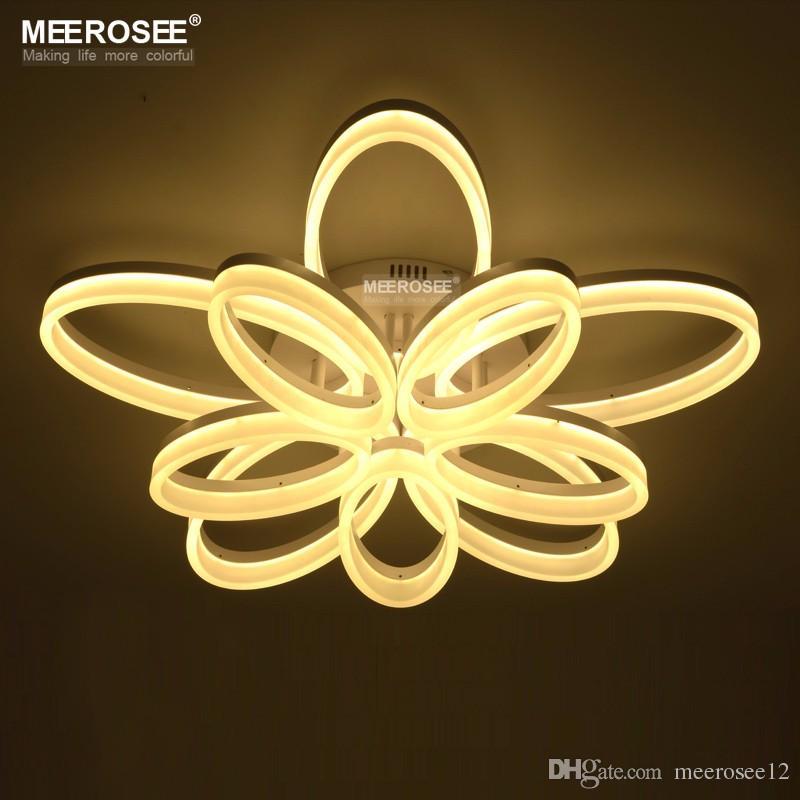 Acrylic Flush Ceiling Lights White Light Frame Home Decorative ...