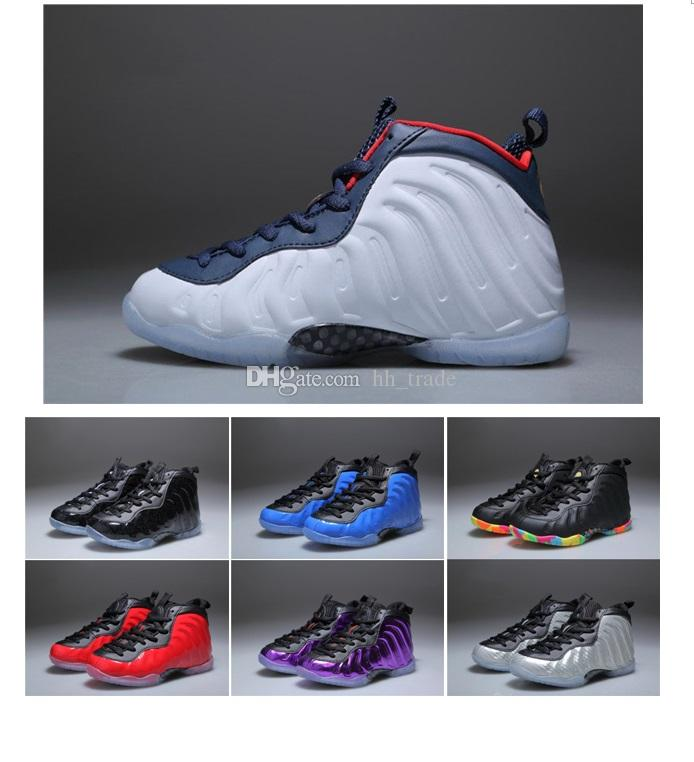 cb04d15d97c 2018 New Kids Penny Hardaway Basketball Shoes Foam One Fruity Pebbles  Olympic USA Eggplant Royal Boys Girls Sport Sneakers For Birthday Gift  Basketballs ...