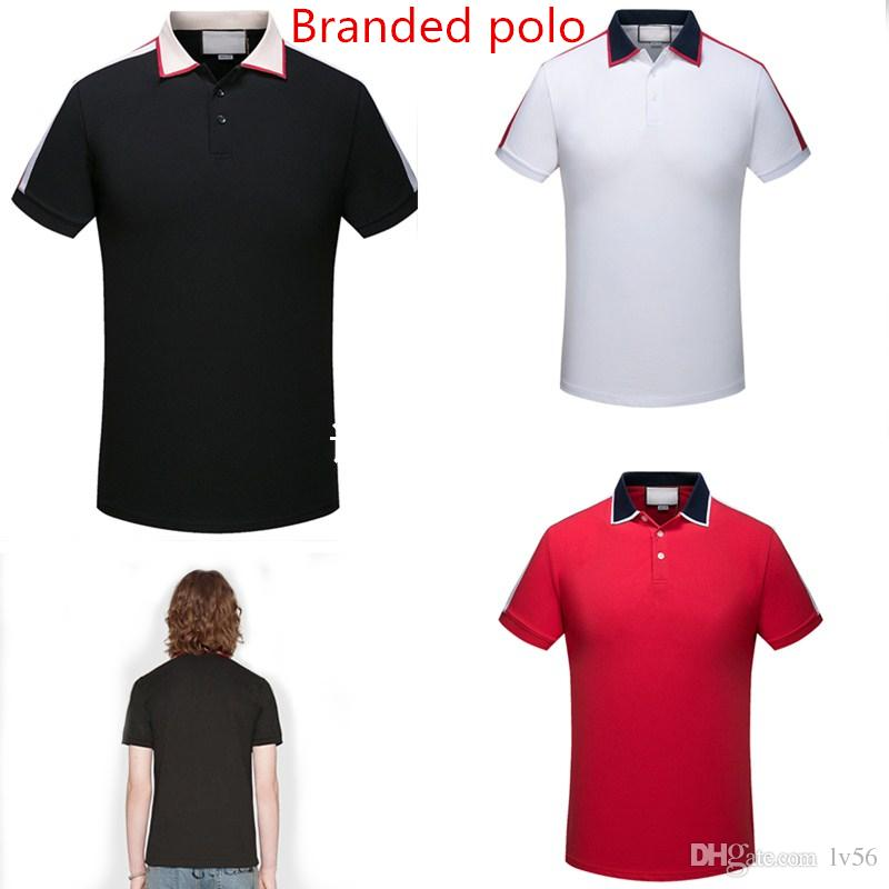 925c233e 2019 2018 Brand New Luxury Designer Casual Men Polo T Shirt Snake Bee  Floral Embroidery Mens Polos High Street Fashion Polo Shirts Men From Lv56,  ...