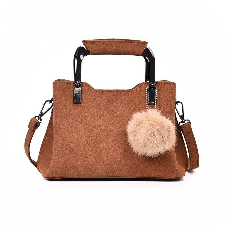 Handbags Women New Designer PU Leather Pom Poms Fashion Autumn Winter Shoulder  Bag Casual Wild Hair Ball Bag Messenger Bags Handbag Cheap Designer Handbags  ... 25a67233e50c2