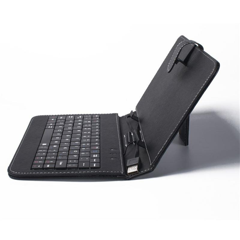 """Black Universal Protective Cover 9"""" Micro USB Leather Case Keyboard For 9 inch Android Tablet PC Case"""