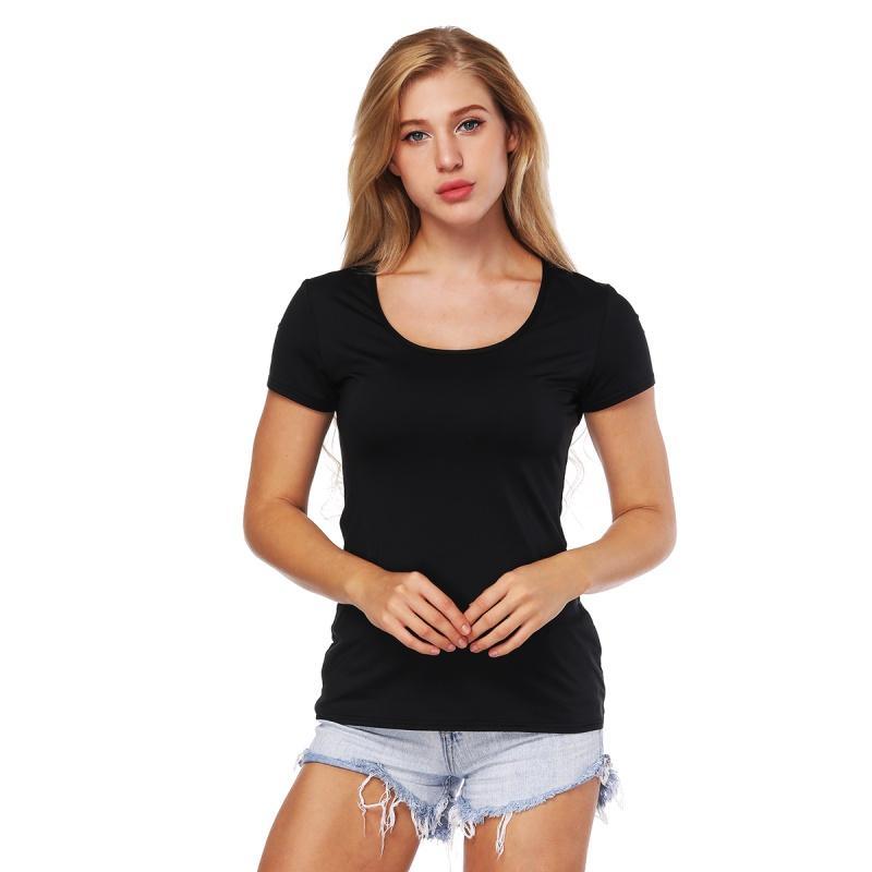 d11684d8fb4 Black Basic Mesh Stitching T Shirt Women Round Neck Blue Star Printing Tee  Shirt Sporting Fitness T Shirts Summer Women H6 Funny T Shirts For Men Make  T ...