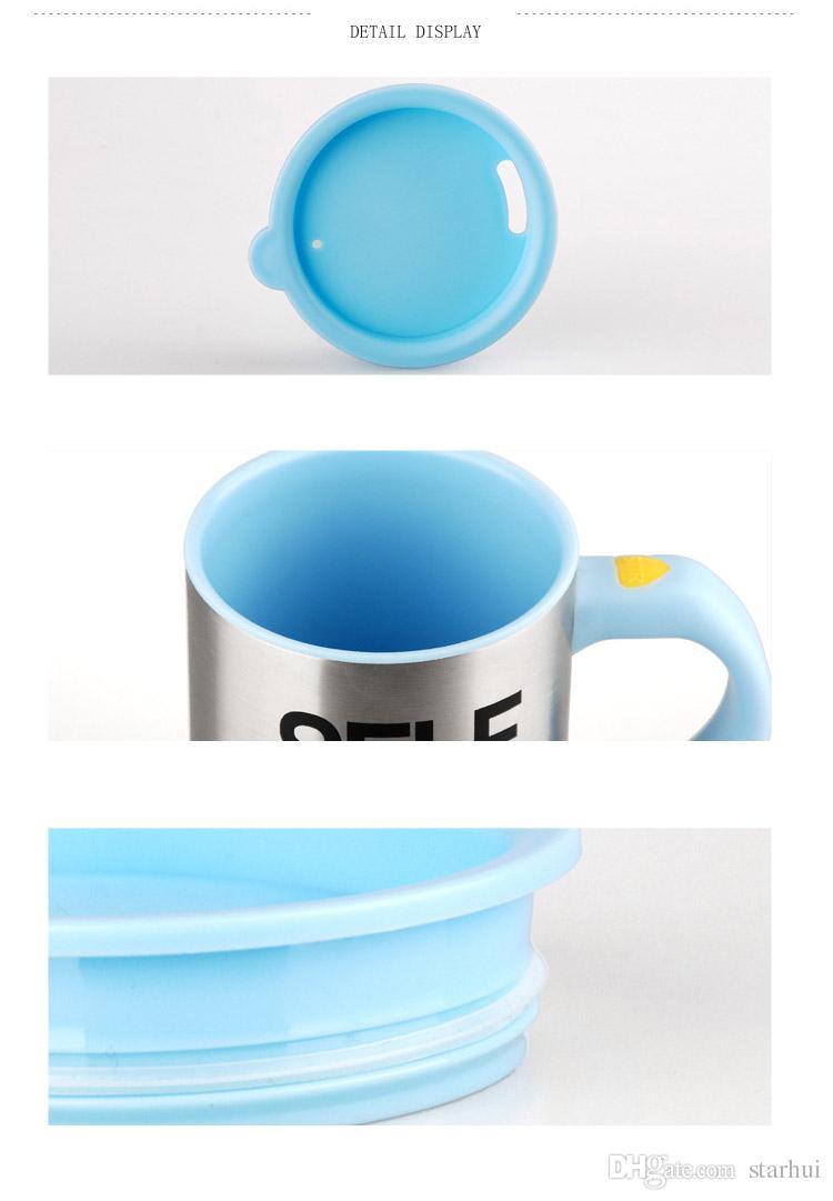 إنشاء التلقائي أكواب القهوة الكهربائية الفولاذ المقاوم للصدأ كسول شرب كأس Drinkware الهدايا مع حزمة البيع بالتجزئة 400-500ML WX9-226