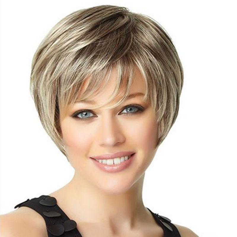 10 Inches Women Fashion Wig Beautiful Boy Cut Short Pixie Wigs For Women  Straight Style Synthetic Blonde Wig Wigs Black Women Wigs Natural Hair From  ... 48ecf53603