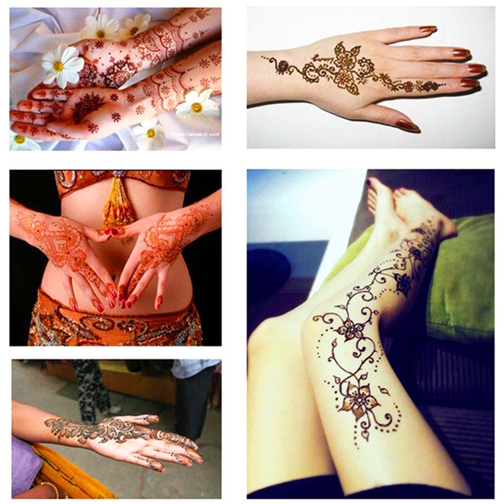 Moda Mehndi Henna Colar Cone Indiano Tatuagem Temporária À Prova D 'Água 100% Seguro Multi Cores