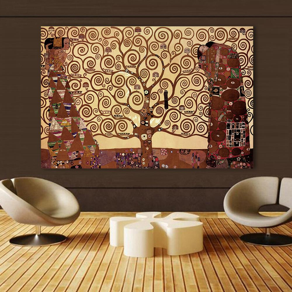Office Home Decor Wall Picture For Living Room Vienna Secession Tree Of Life Vienna Secession Gustav Klimt Canvas Art No Framed