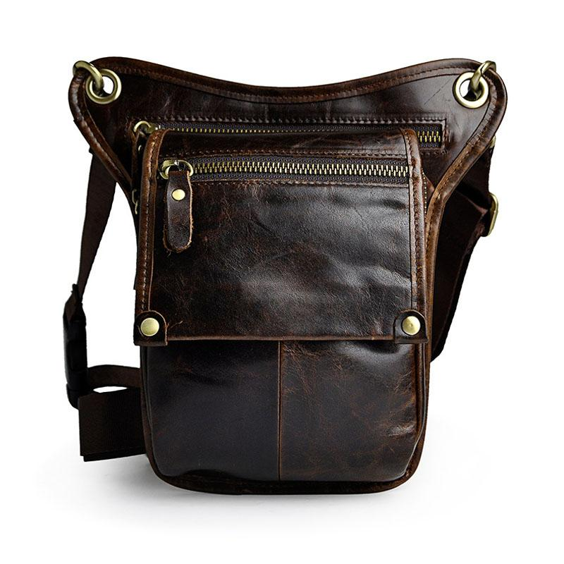51a285fec3 Fashion Style Genuine Leather Belt Bag Men S Waist Bag Leg Pouch Pack  Mobile Phone Camera Organize Multi Function Casual Bags Backpacks For  College Women ...