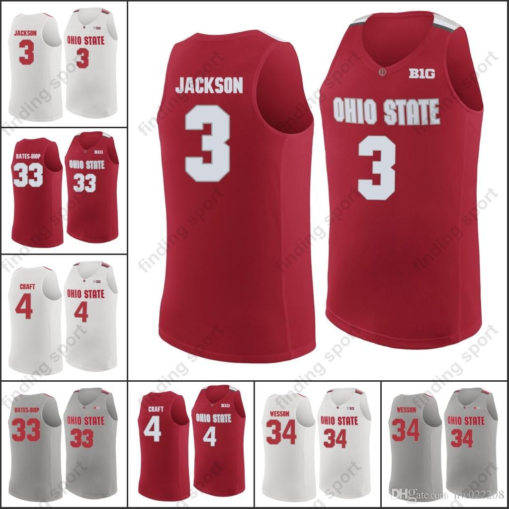 82a059512d0 Custom Ohio State Buckeyes College Basketball Aaron Craft Keita Bates-Diop  CJ Jackson Wesson Angelo Russell Mike Conley Online with $31.96/Piece on ...