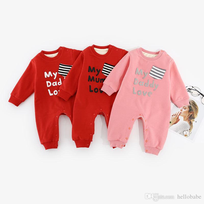 a782f7172 2019 Baby Winter Rompers Thickened Cotton Flannelette Girls Boys Winter  Jumpsuit Round Neck Long Sleeve 0 24M My Daddy Love From Hellobabe, $13.27  | DHgate.