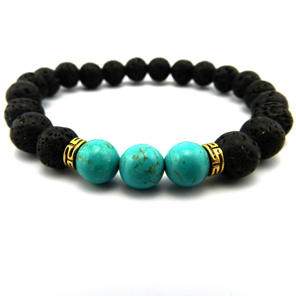 New Products Wholesale Lava Stone Beads Natural Stone Bracelet, Men Jewelry Yoga Bracelet