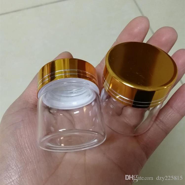 48 flaconi da 20 ml in vetro trasparente con tappo a spirale in metallo color oro Bomboniera bomboniere 37x40mm