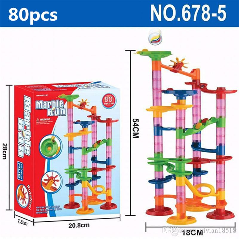 6 Styles DIY Construction Marble Race Run Maze Balls Track Building Blocks Children Gift For Baby Toy Educational