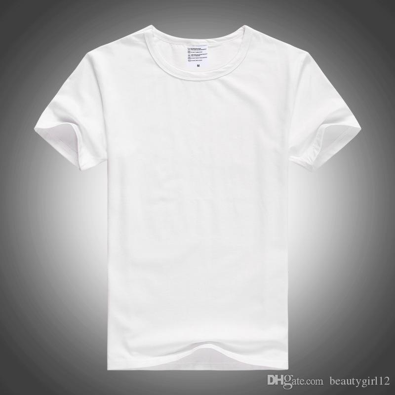 Short - sleeve round white modale white T-shirt wholesale