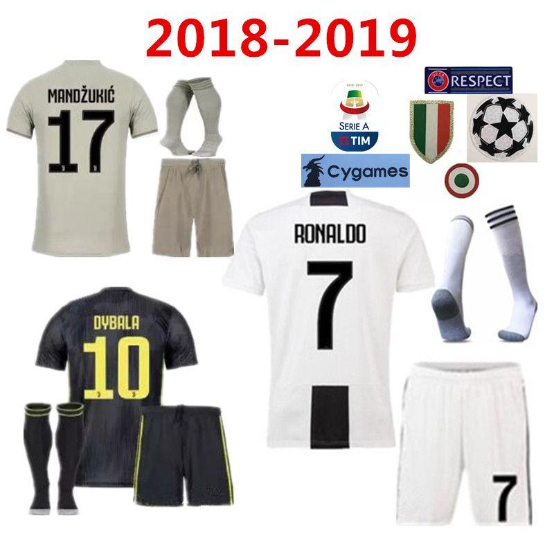 e905ff98a 2019 18 19 Juventus Soccer Jersey Kit 2018 Juve 7 RONALDO 9 HIGUAIN 10  DYBALA 11 D. Costa 17 MANDZUKIC BUFFON Third Football Shirt Uniforms From  Minghao666