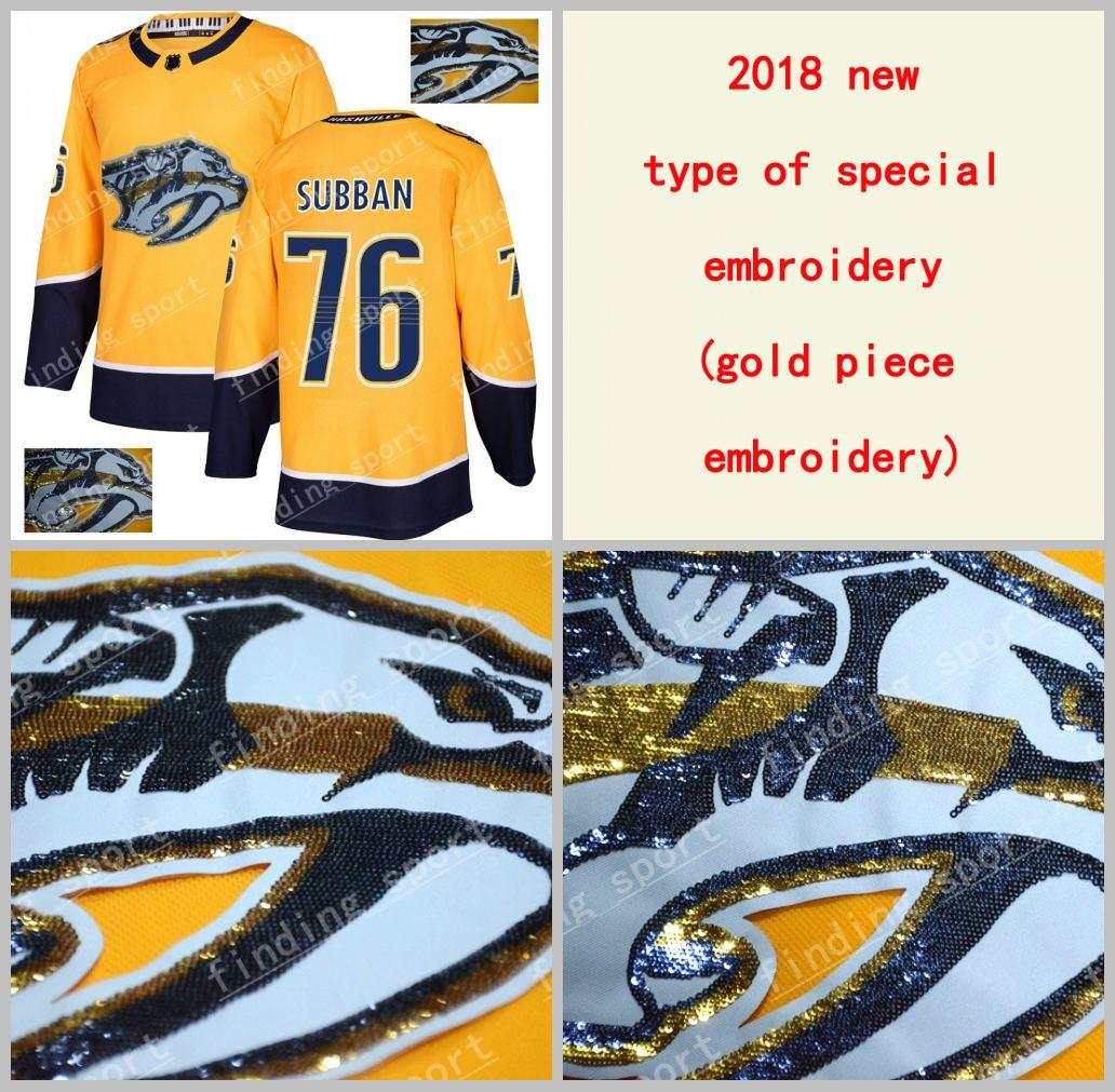 2018 2018 New Type Of Special Embroidery Men Nashville Predators 76