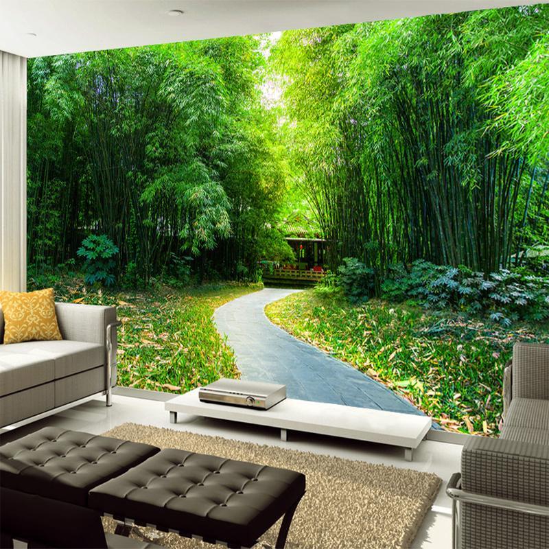 Acheter Personnalisé Toute Taille 3d Naturel Bambou Sentier Paysage